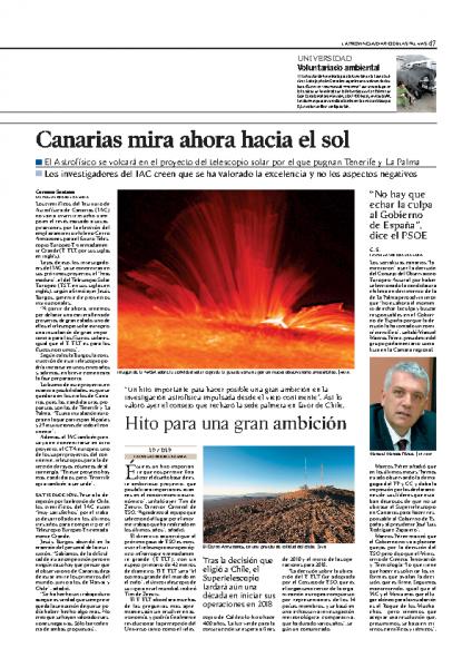 Canarias mira ahora…
