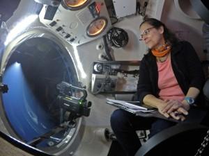 Juana Magdalena Santana Casiano, Instituto de Oceanografía y Cambio Global de la ULPGC, a bordo de JAGO. / GEOMAR