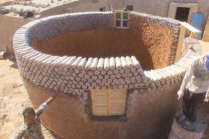 La casa circular ideada por Tateh Lehbib Breica. / Russell Fraser (Acnur).